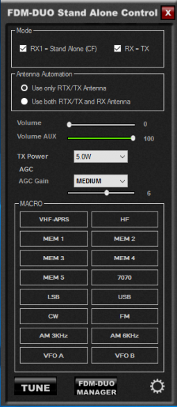 FDM-DUO Standalone control panel